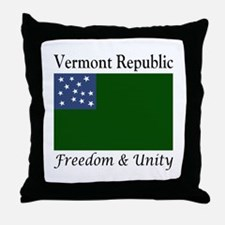 Vermont Republic Throw Pillow