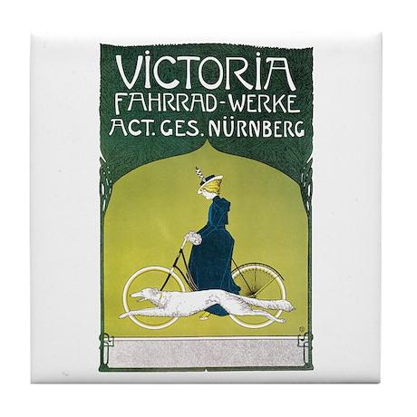 Vintage Art Nouveau Poster Tile Coaster