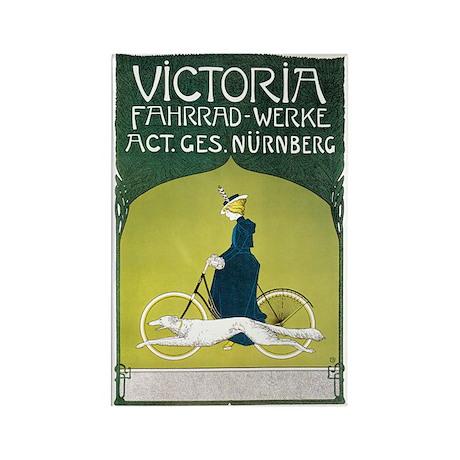 Vintage Art Nouveau Poster Rectangle Magnet (100 p