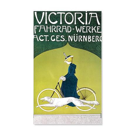 Vintage Art Nouveau Poster 20x12 Wall Decal