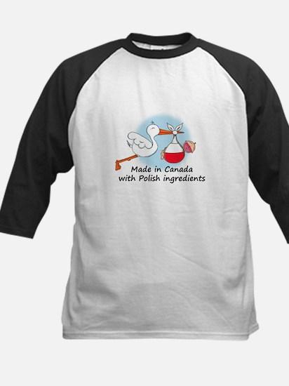 Stork Baby Poland Canada Kids Baseball Jersey