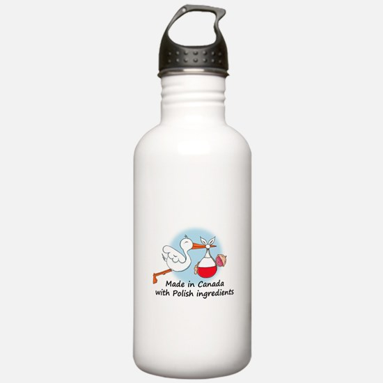 Stork Baby Poland Canada Water Bottle