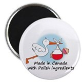 Stork baby poland Magnets