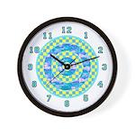 OP ART SERIES:  Checkered Wall Clock