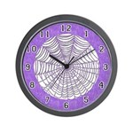 CHILDREN'S SERIES:  Purple Web Wall Clock