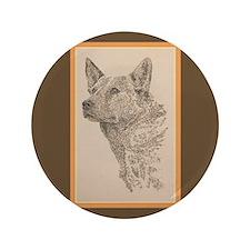"""Australian Cattle Dog 3.5"""" Button (100 pack)"""