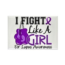 Licensed Fight Like a Girl 15.5 L Rectangle Magnet