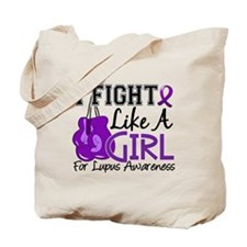Licensed Fight Like a Girl 15.5 Lupus Tote Bag