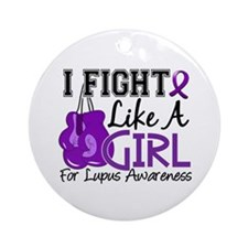 Licensed Fight Like a Girl 15.5 L Ornament (Round)