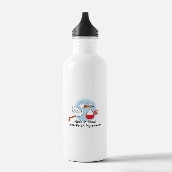 Stork Baby Poland Brazil Water Bottle