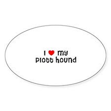 I * my Plott Hound Oval Decal