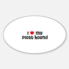 I * my Plott Hound Oval Decal