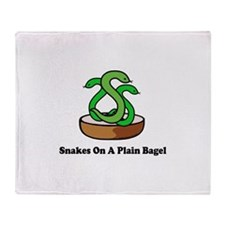 Snakes On A Plain Bagel Throw Blanket