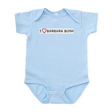 I Love Barbara Bush Infant Creeper