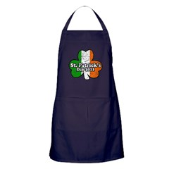 St. Patrick's Day 2011 Retro Apron (dark)