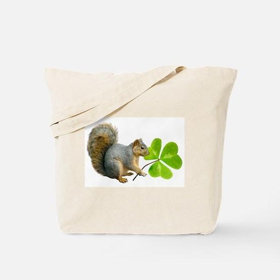 Shamrock Squirrel Tote Bag
