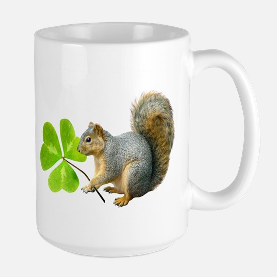 Shamrock Squirrel Large Mug