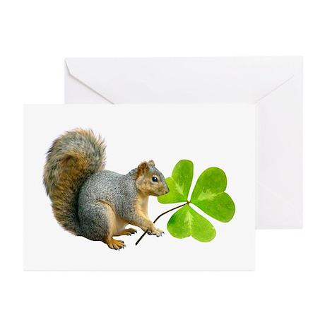 Shamrock Squirrel Greeting Cards (Pk of 10)