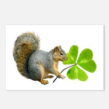 Shamrock Squirrel Postcards (Package of 8)