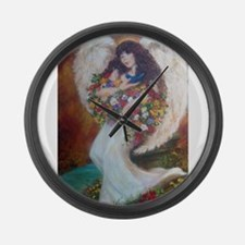 AngelsRealm Large Wall Clock