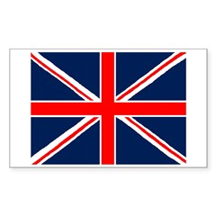 United Kingdom Sticker (Rectangle 50 pk)