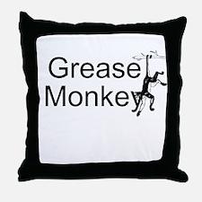 Grease Monkey Throw Pillow