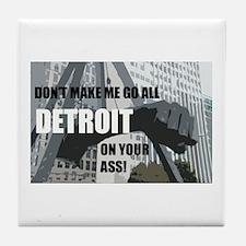 Detroit Girl Tile Coaster