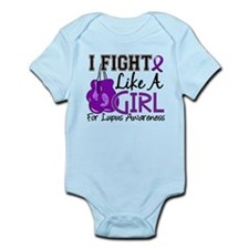 Licensed Fight Like a Girl 15.5 Lu Infant Bodysuit