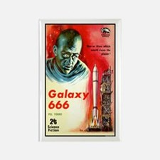 Galaxy 666 Rectangle Magnet