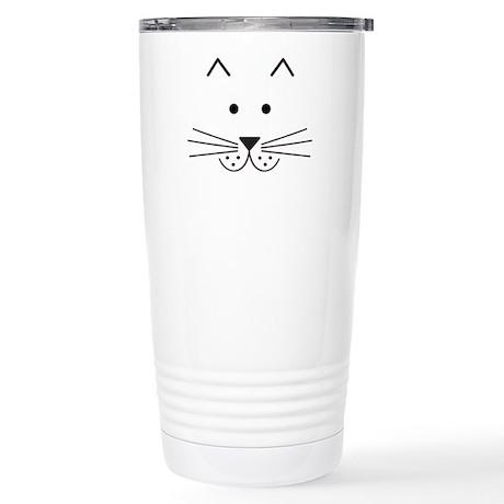 Cartoon Cat Face Stainless Steel Travel Mug