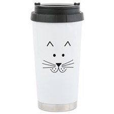 Cartoon Cat Face Travel Coffee Mug