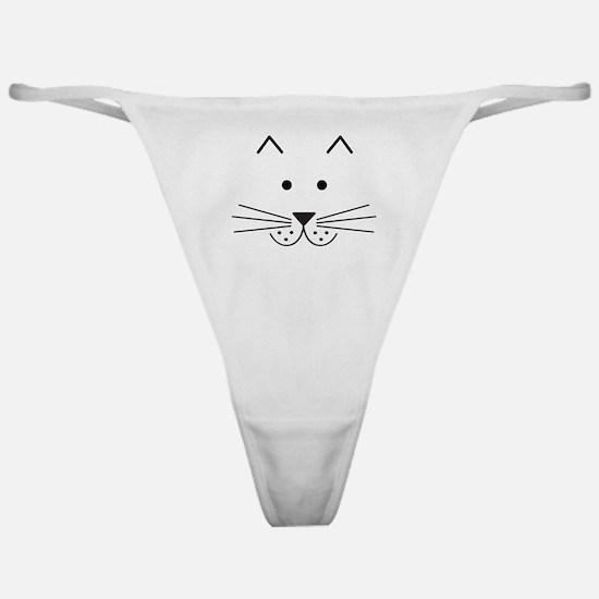 Cartoon Cat Face Classic Thong