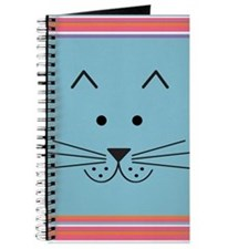 Cartoon Cat Face Journal