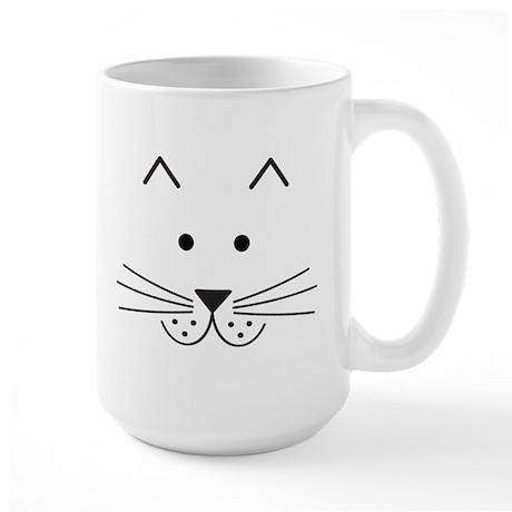 Cartoon Cat Face Large Mug
