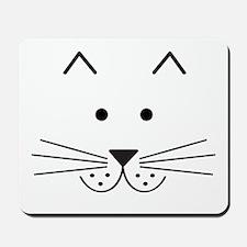 Cartoon Cat Face Mousepad