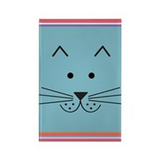 Cartoon Cat Face Rectangle Magnet