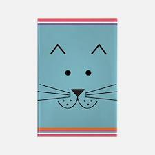 Cartoon Cat Face Rectangle Magnet