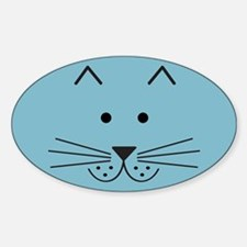 Cartoon Cat Face Decal