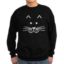 Cartoon Cat Face Sweatshirt