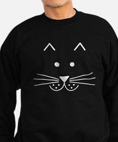 Cartoon Cat Face Sweatshirt (dark)