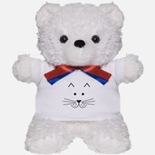 Cartoon Cat Face Teddy Bear
