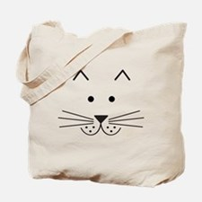 Cartoon Cat Face Tote Bag
