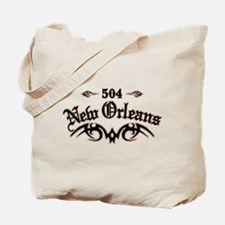 New Orleans 504 Tote Bag