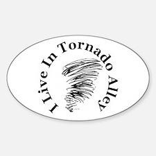 Tornado Alley Oval Decal