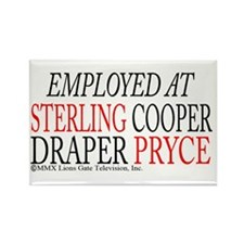Employed at Sterling Cooper Rectangle Magnet