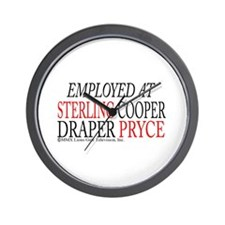 Employed at Sterling Cooper Wall Clock