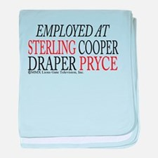 Employed at Sterling Cooper baby blanket
