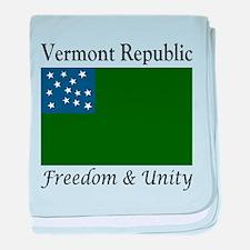 Vermont Republic baby blanket