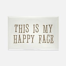 this is my happy face Rectangle Magnet