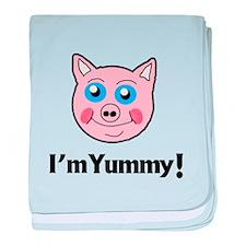 I'm Yummy Pig baby blanket
